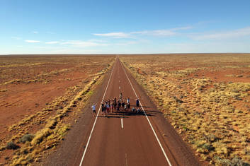 Group Picture on the Stuart Highway