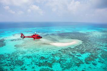 Flying over the Sand Cay