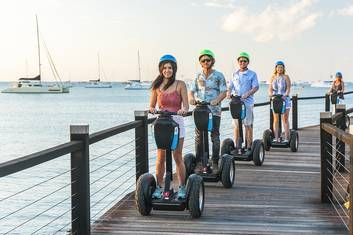 Ride a Segway along the shore and boardwalk of Airlie Beach