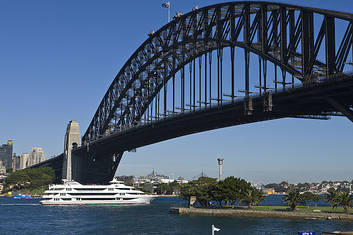 Cruising under the Sydney Harbour Bridge
